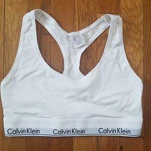White Calvin Klein Bralette